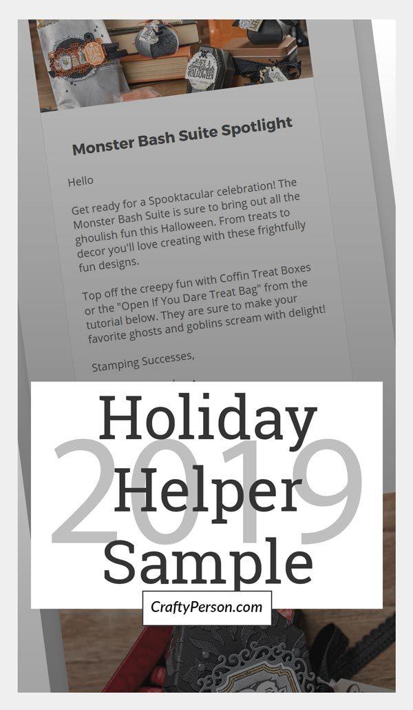 Holiday Helper 2019 Sample