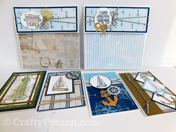Summer Fun 2019 MarketPlace - Nautical Pouch + 4 notecards