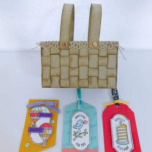 Summer Fun 2019 MarketPlace - Faux Woven Basket and Tags