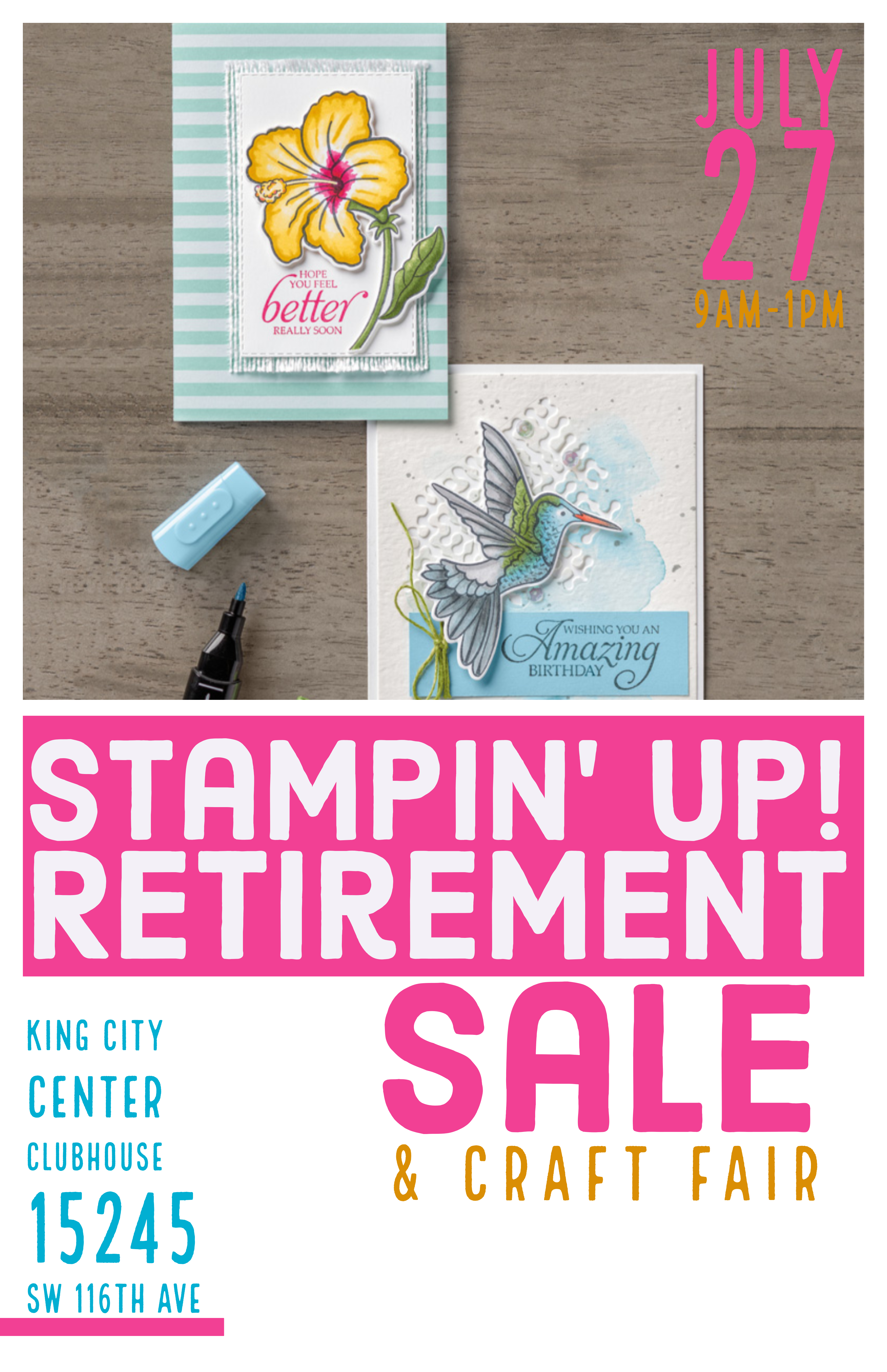 Stampin' Up! Retirement Sale & Craft Fair