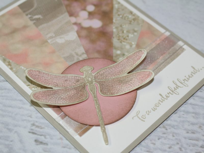 Dragonfly Dreams Sunburst Card
